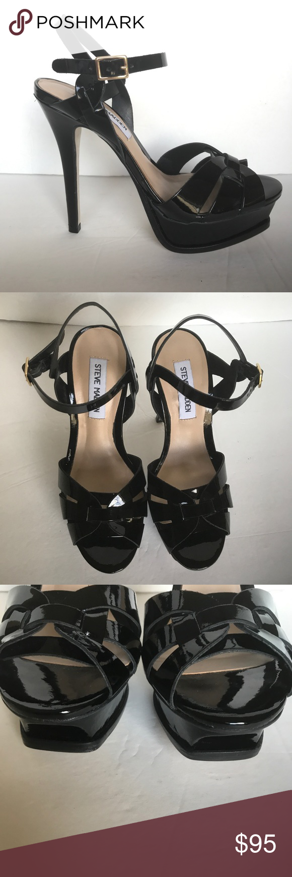 c2e991ae1b0a Steve Madden Kananda Black Patent Leather Heels 7 These Steve Madden Womens Kananda  Blush Patent Leather