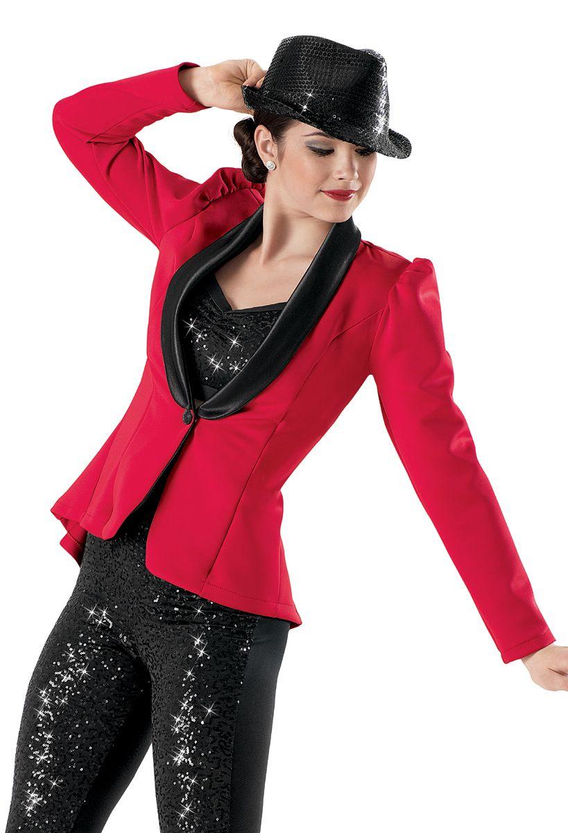 Weissman Satin Tuxedo Jacket With Sequin Bra Top