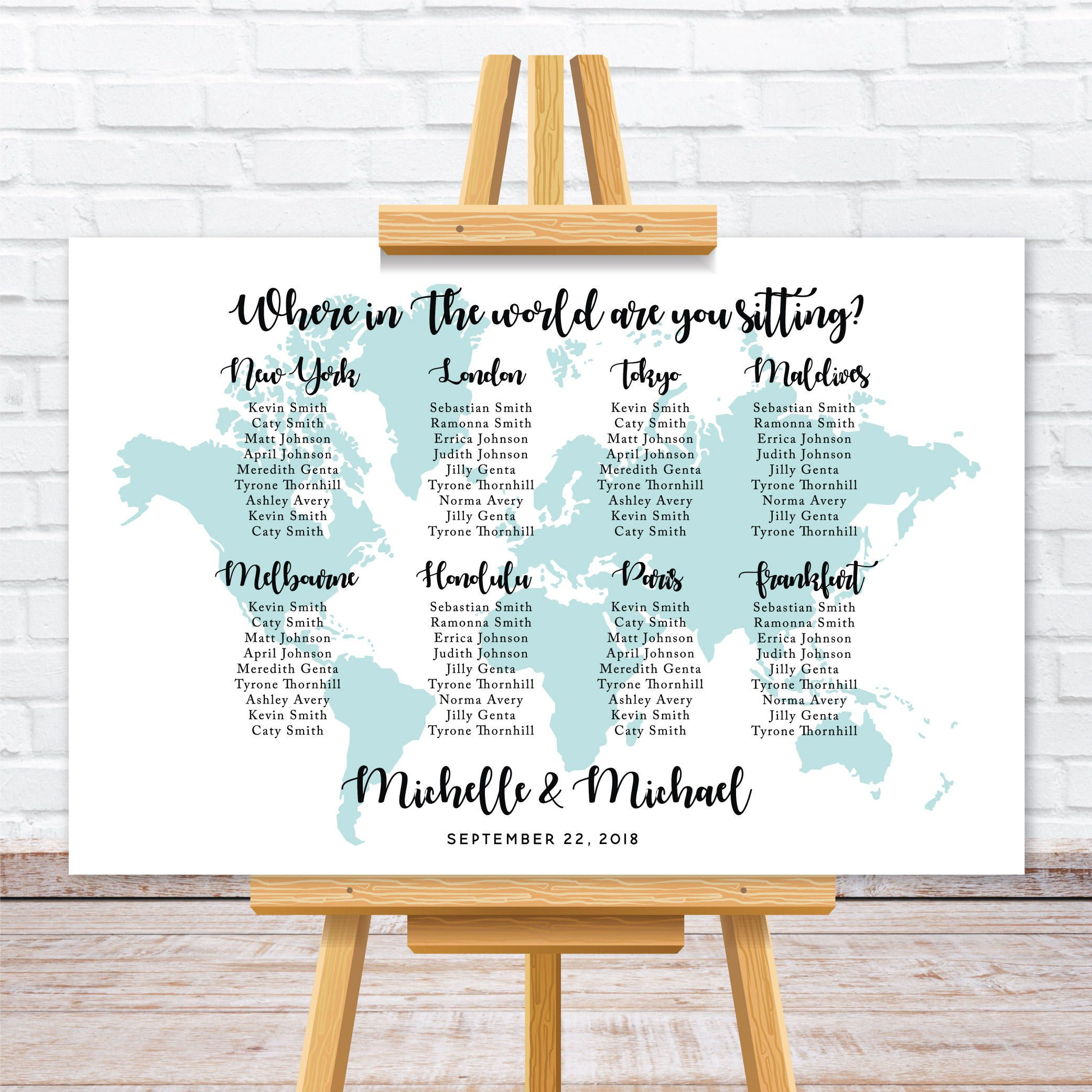 Where in the world are you sitting seating chart! | World Map ...