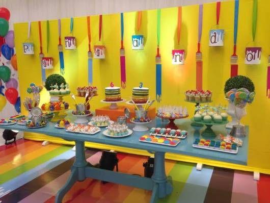 Festa Pintando O Sete Como Fazer Festa Artistica Festa