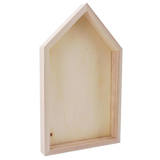 Bare Wood Shadow Box Frame - 25cm House #8056 | Shadow box frames ...