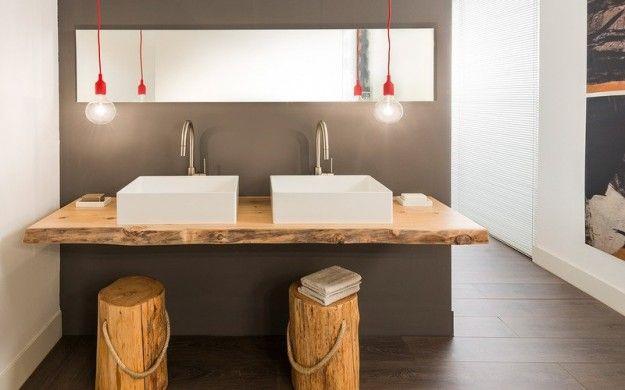 Legno Grezzo Per Mensole : Arredi bagno legno naturale decor toilet and room