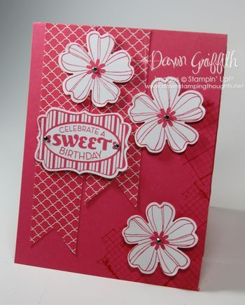 A sweet birthday card made with flowershop and a sweet birthday card made with flower shop and cycle celebration stamp sets decorative label punch stampin up bookmarktalkfo Gallery