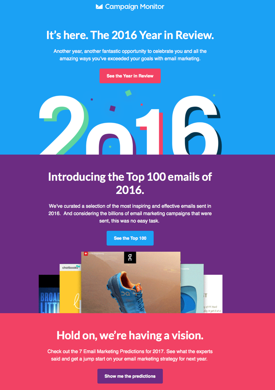 Year In Review Email Email Subject Lines Years Email Design