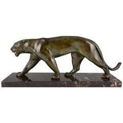 Max Le Verrier French Art Deco Panther Sculpture, 1930