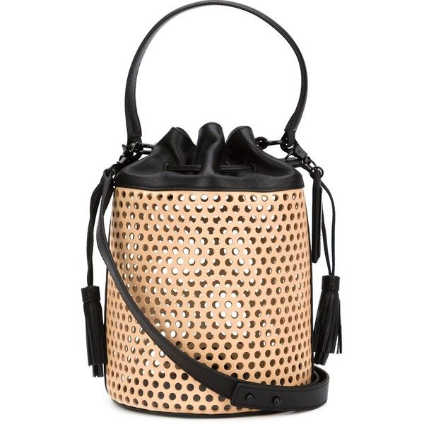 Loeffler Randall Industry Perforated Shoulder Bag 480 Liked On Polyvore Featuring