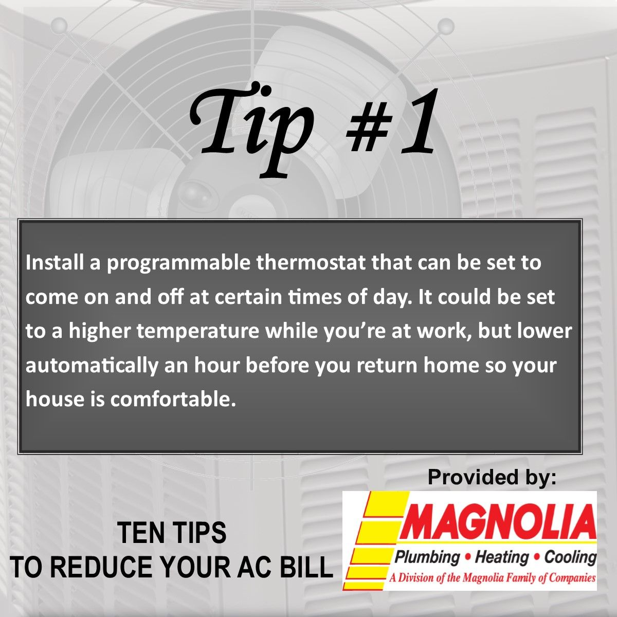 Tip Of The Day Hvac Cooling Air Conditioning Services Heating