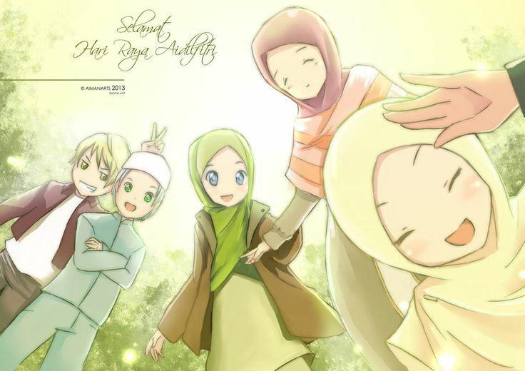 Selamat Hari Raya Idul Fitri With Images Anime Muslim Anime
