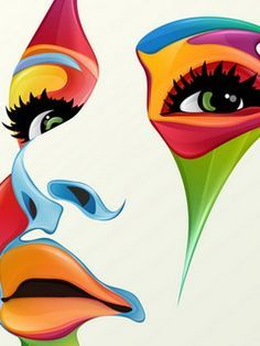 Abstract Face Paint | Abstract Art | Pinterest