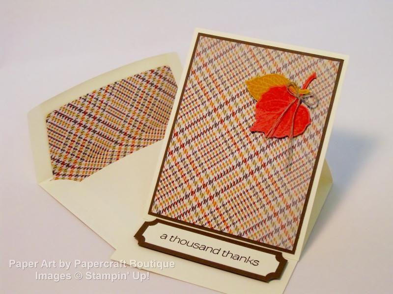 Fall easel card