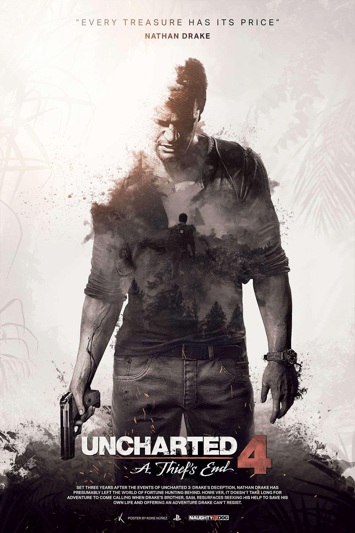 Uncharted 4 A Thief S End Fan Poster On Behance In 2020