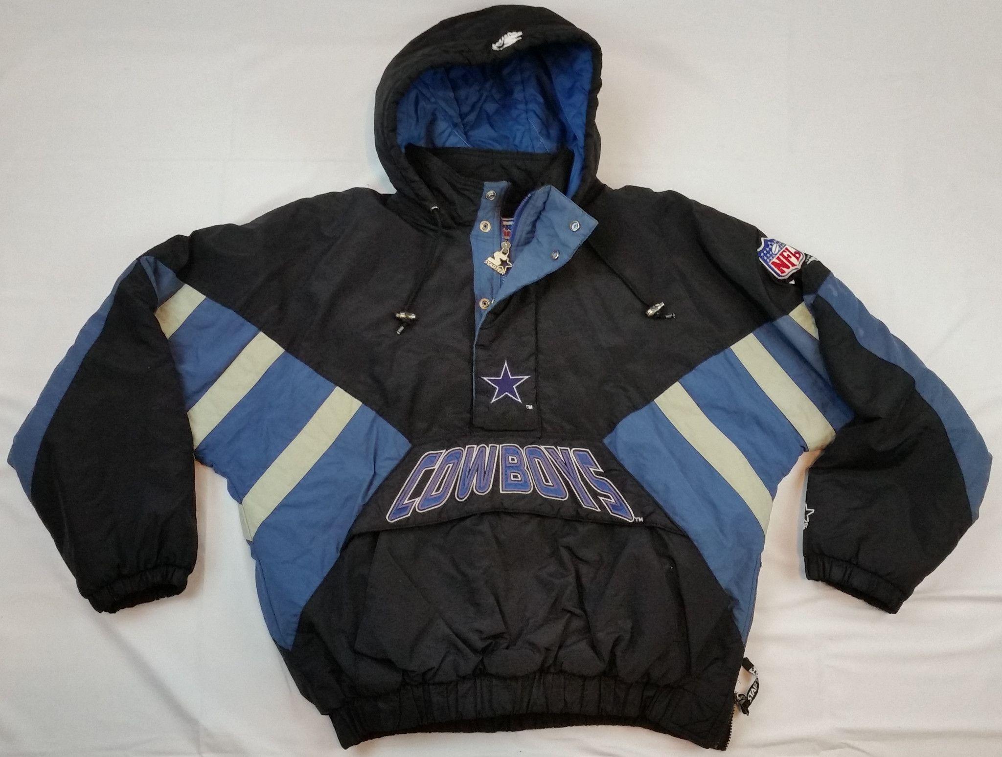 lowest price ddcd6 b3c77 Dallas Cowboys Starter Jacket Vintage NFL Pro Line Pullover ...