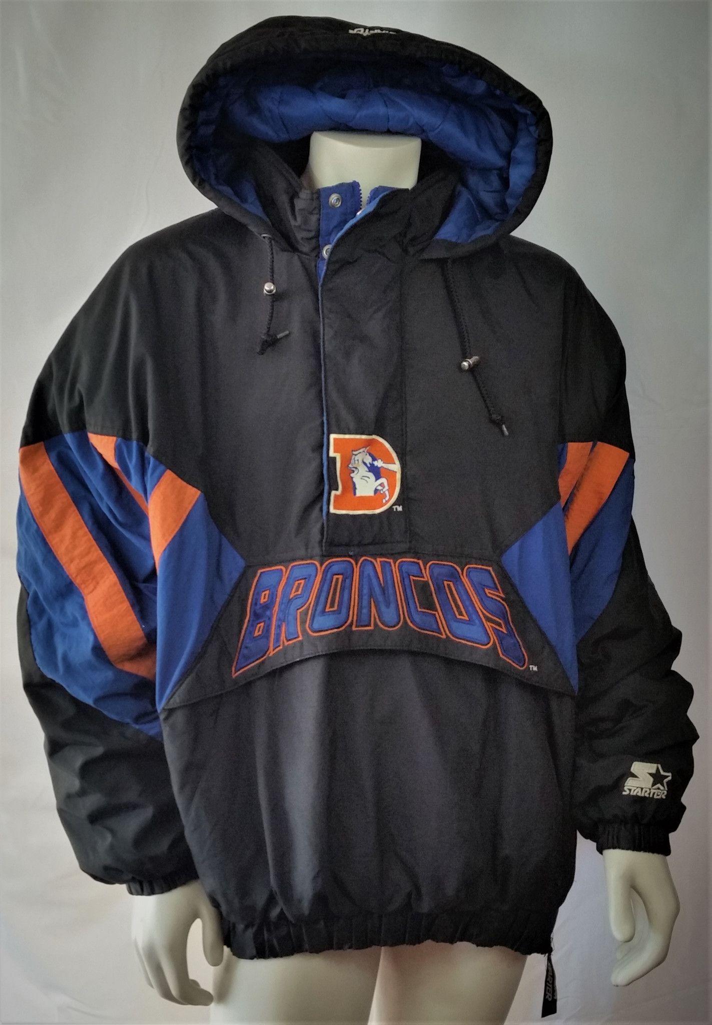 new style 688d1 8105e Denver Broncos Vintage Starter Jacket NFL Pro Line Pullover ...