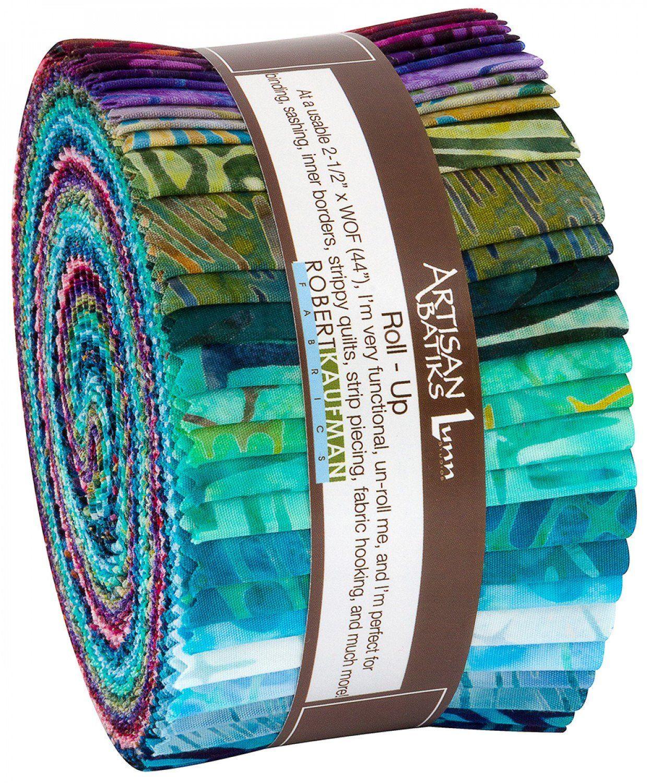 Batik Jelly Roll 2.5 Inch Precut Fabric Strips Turquoise Pink Purple Batick Fabric Strips Electric Desert Island Batik Strip Pack