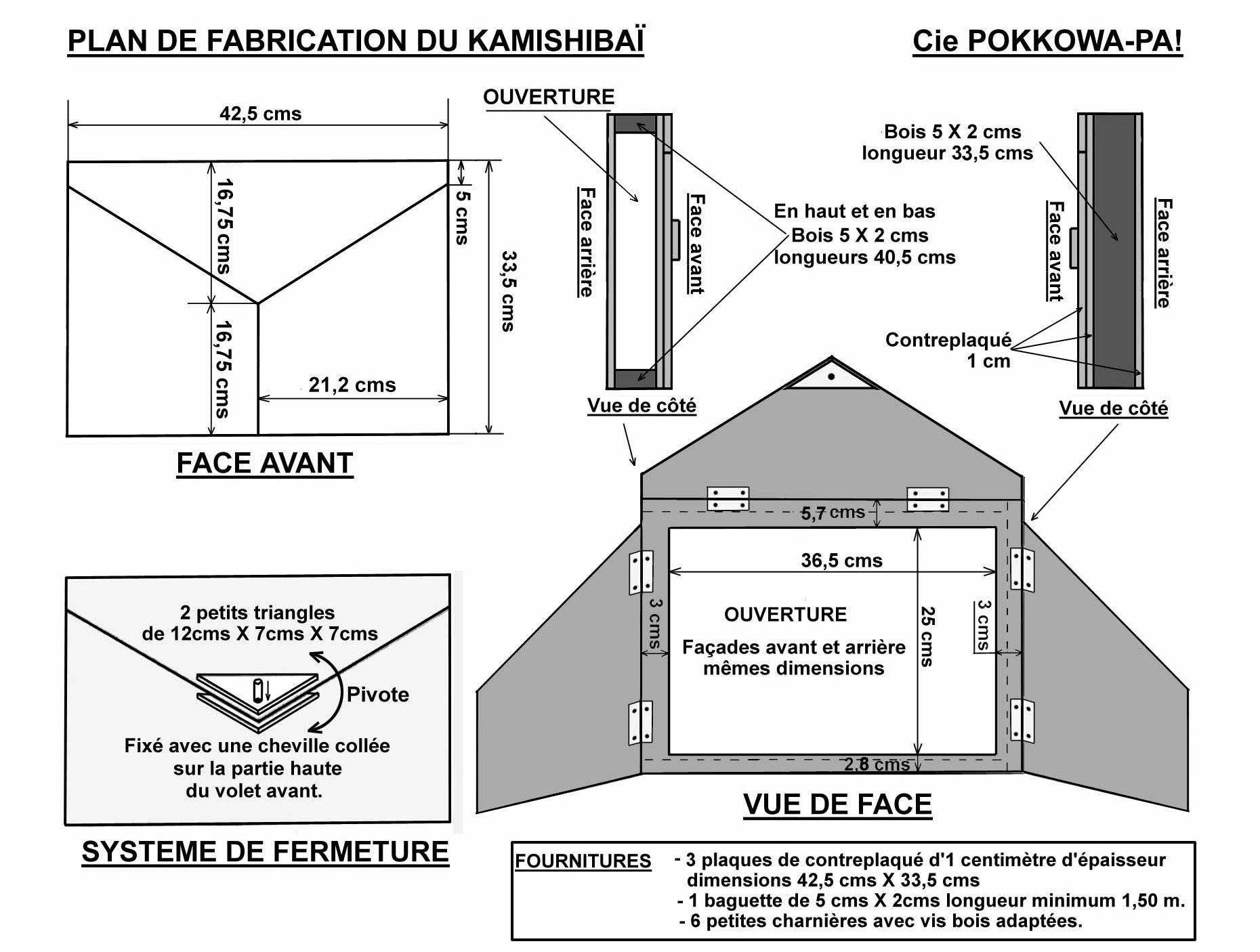 R Sultat De Recherche D Images Pour Kamishibai Fabrication  # Schema De Fabrication D' Un Classeur En Bois