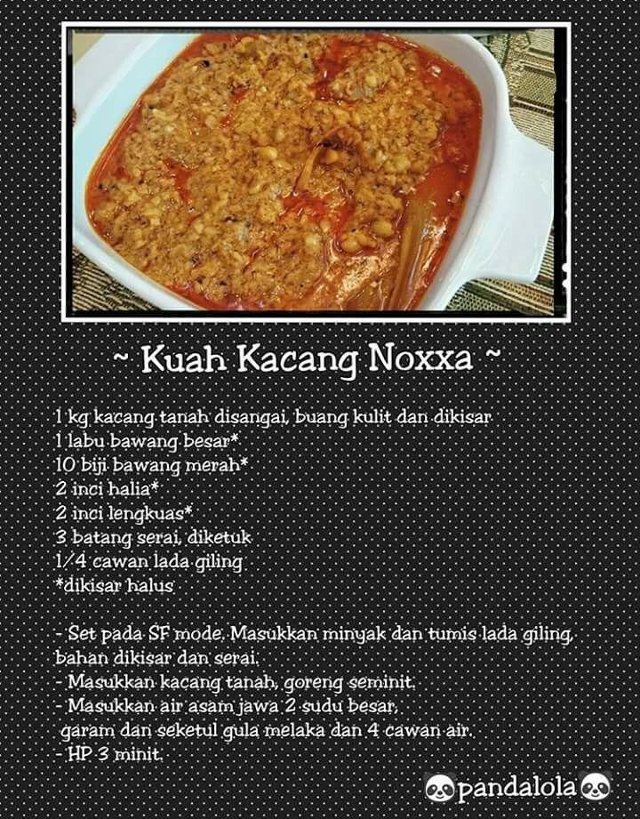 Kuah Kacang Pressure Cooker Recipes Cooking Recipes Food