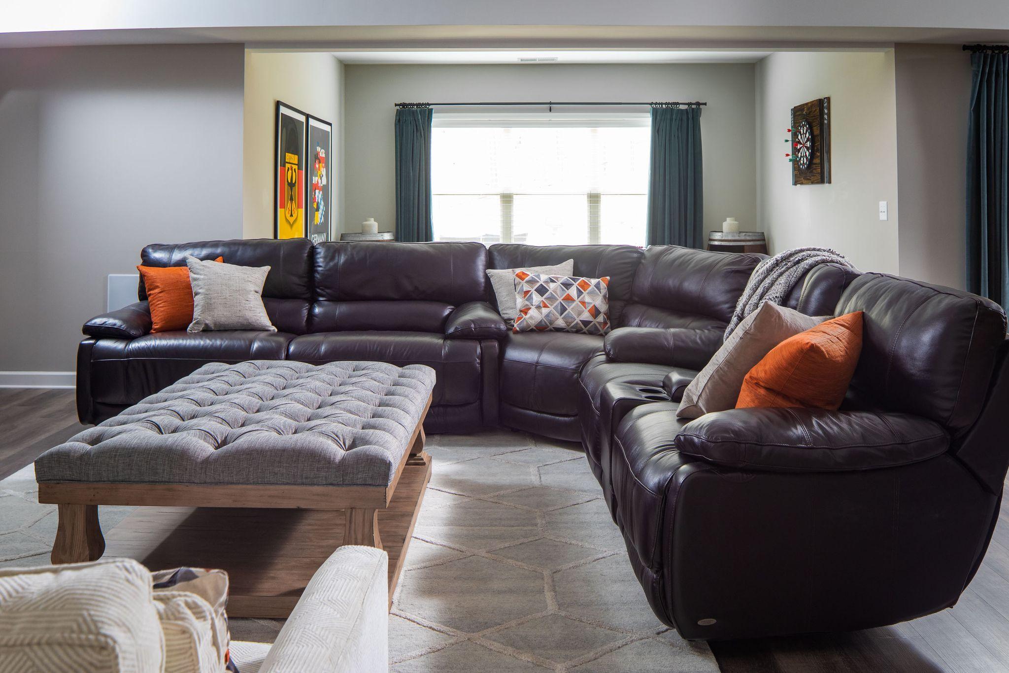 this marietta home features sleek modern lights edgy