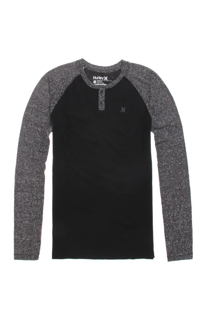 Hurley Icon Long Sleeve Henley T-Shirt  pacsun  334fd09f8