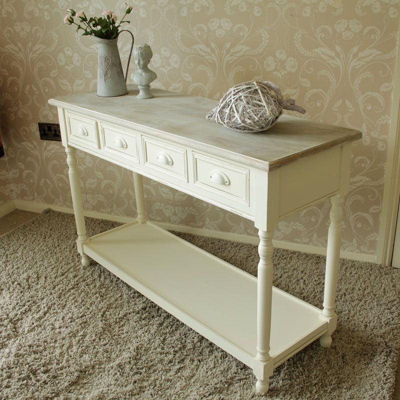sofa table with storage baskets. Country Ash Range By Melody Maison £170. Would Have Wicker Storage Baskets On The Sofa Table With