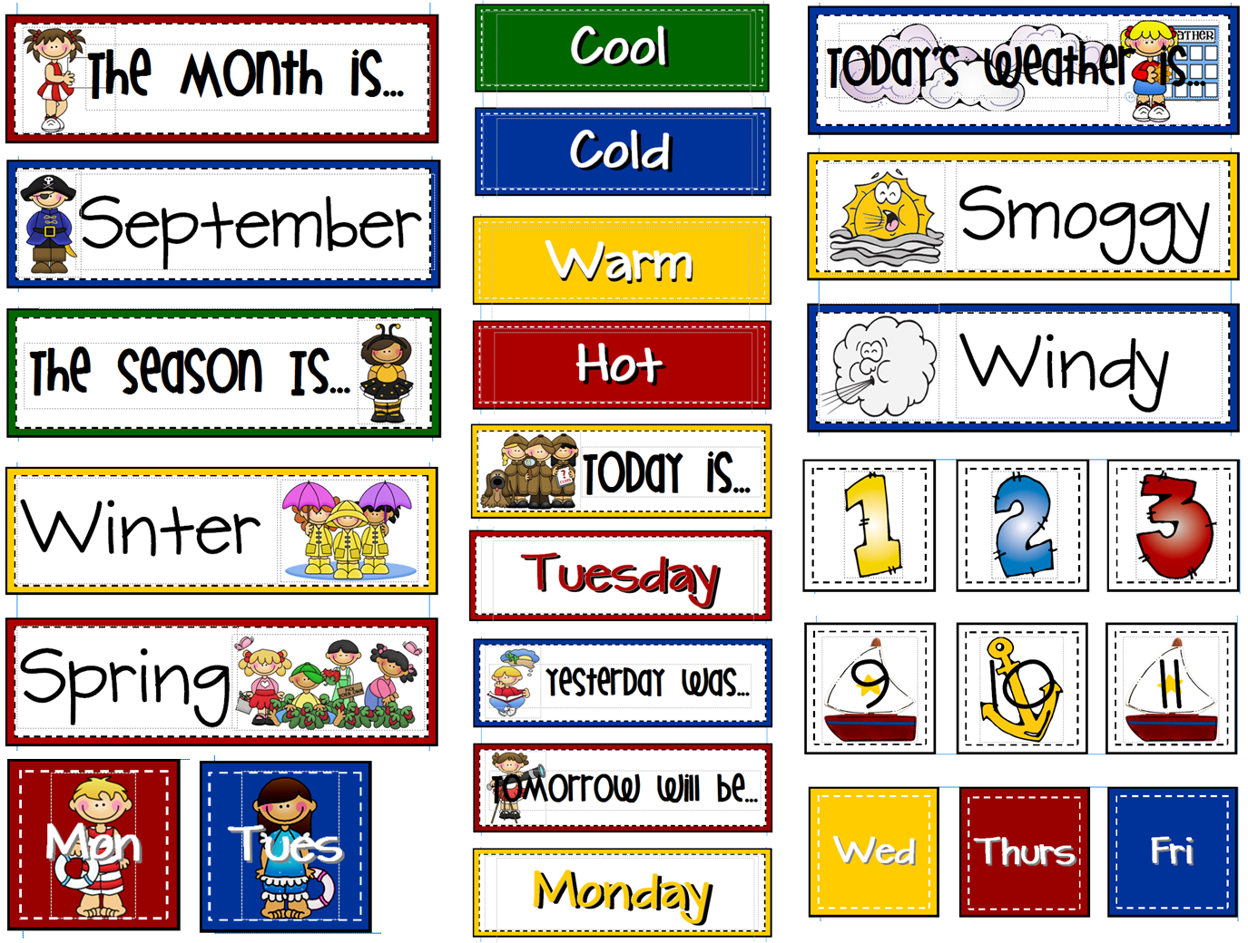 Sailing Through 1st Grade Calendar Board These Are The