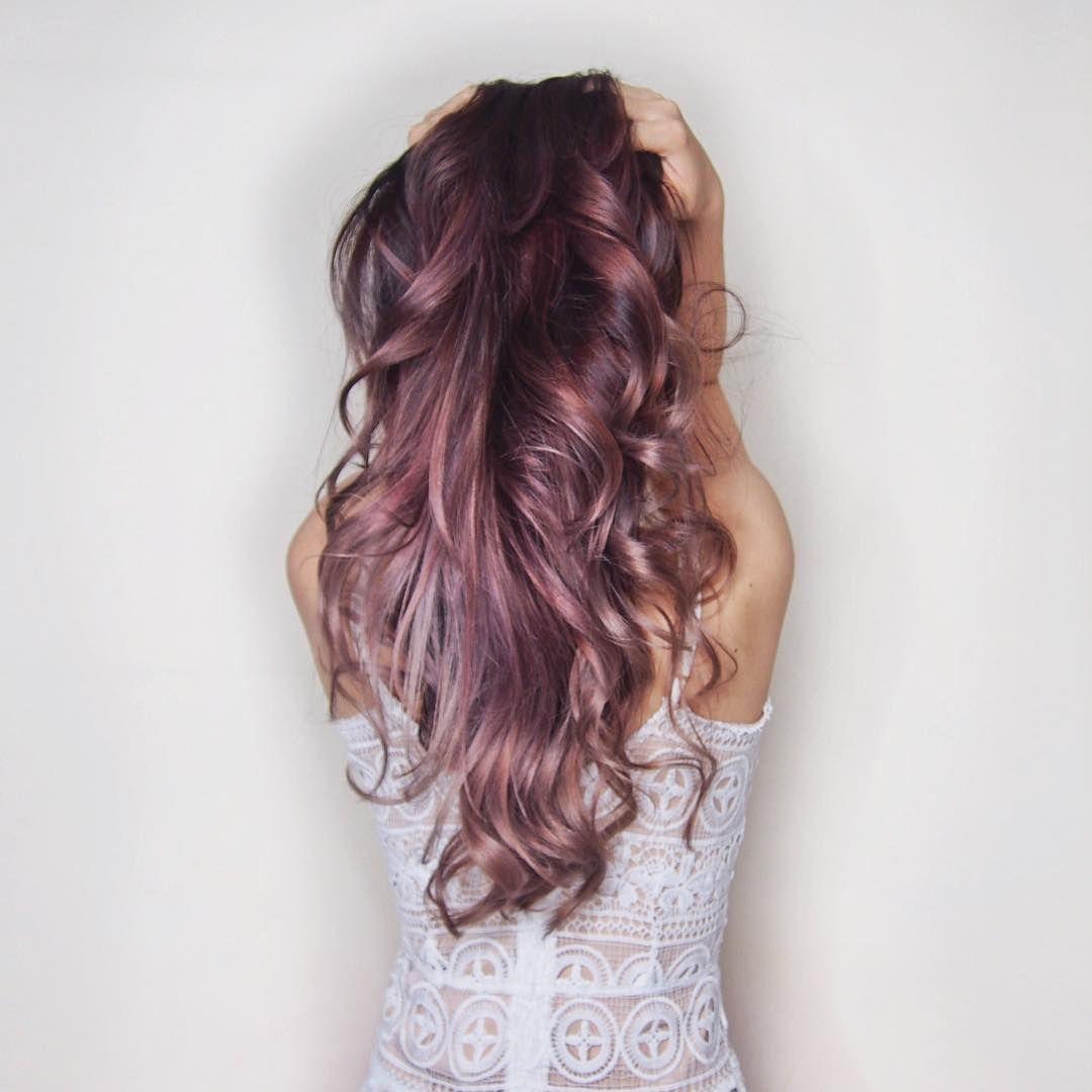 rose gold a t la couleur de cheveux la plus cool de 2016 coiffure pinterest les couleurs. Black Bedroom Furniture Sets. Home Design Ideas