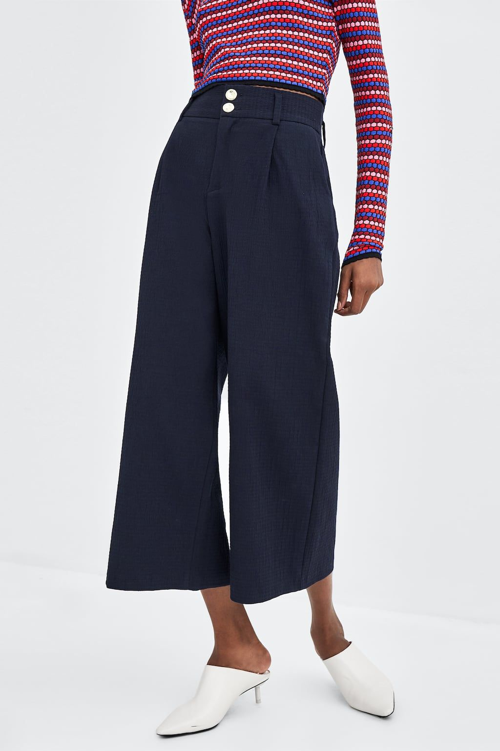 8e053912 Image 3 of WIDE LEG ANKLE PANTS from Zara | what to wear | Palazzo ...