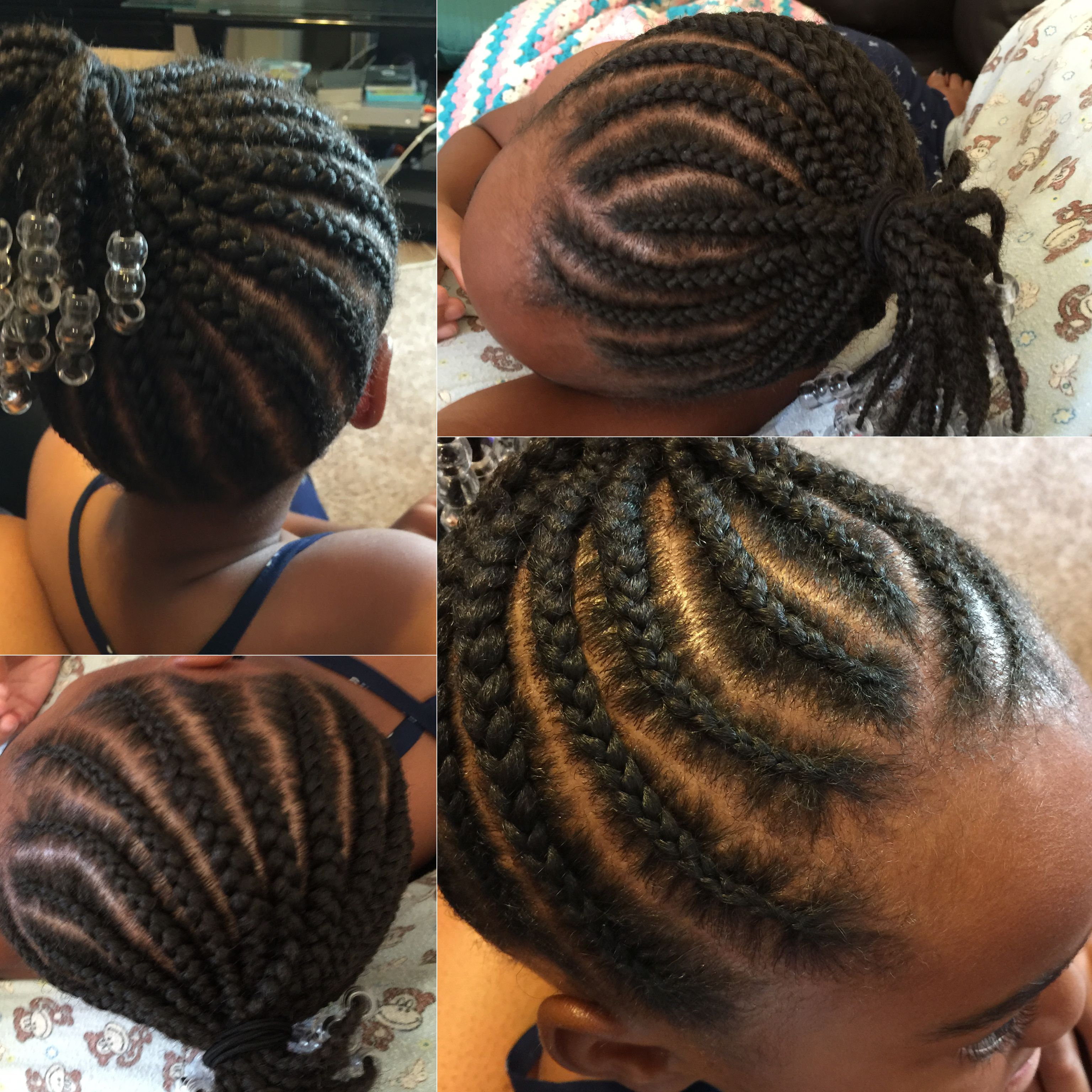Natural Hair Braids For Kids 3 Row Cornrows Protective Styling Little S Supa You