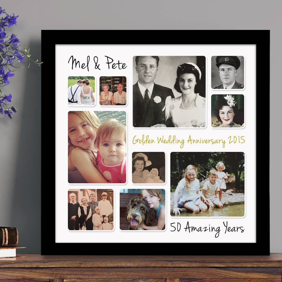 personalised golden wedding anniversary photo collage in 2018 scrapbooking pinterest. Black Bedroom Furniture Sets. Home Design Ideas
