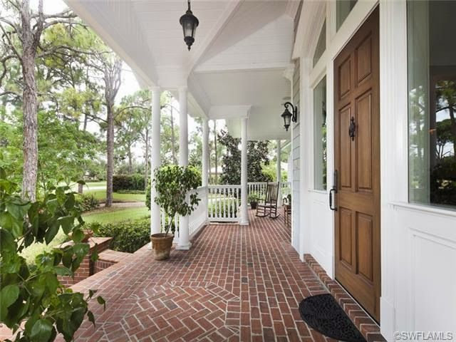 Naples Luxury Homes Blog Front Porch With Brick Floor And
