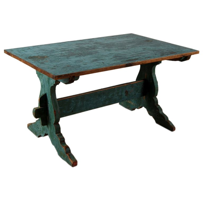 Swedish Vintage Blue Farm Table Or Writing Desk This Is My Table Exactly But Mine Is Green Farm Table Farm Tables For Sale Furniture