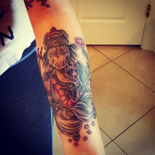 Love my tattoo!  #Ganesha