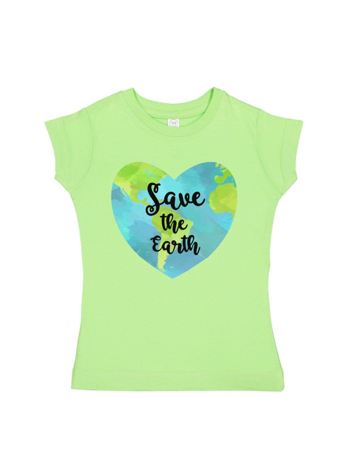 fffe95534 save the earth lime green girl's t-shirt | girl's earth day shirt | baby  girl and toddler girl earth day outfits