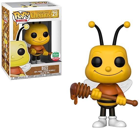 Amazon Com Funko Pop Ad Icons Honey Nut Cheerios Buzz The Bee Bundle Toys Games Pop Ads Funko Pop Dolls Funko Pop Collection