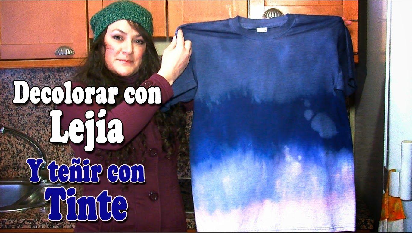 Decolorar Camiseta Y Teñirla Con Tinte Camisetas Caseras Camisetas Camisetas Diy