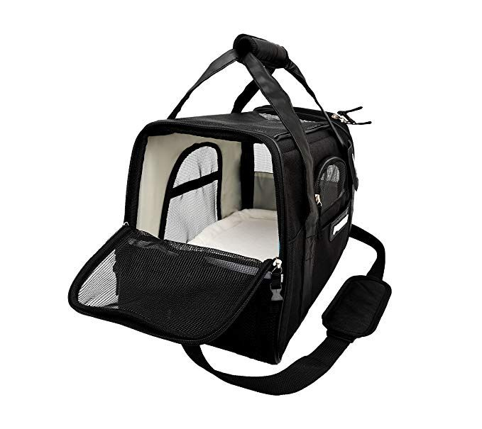 Lubber Soft Sided Pet Carrier Airline Approved Travel Tote