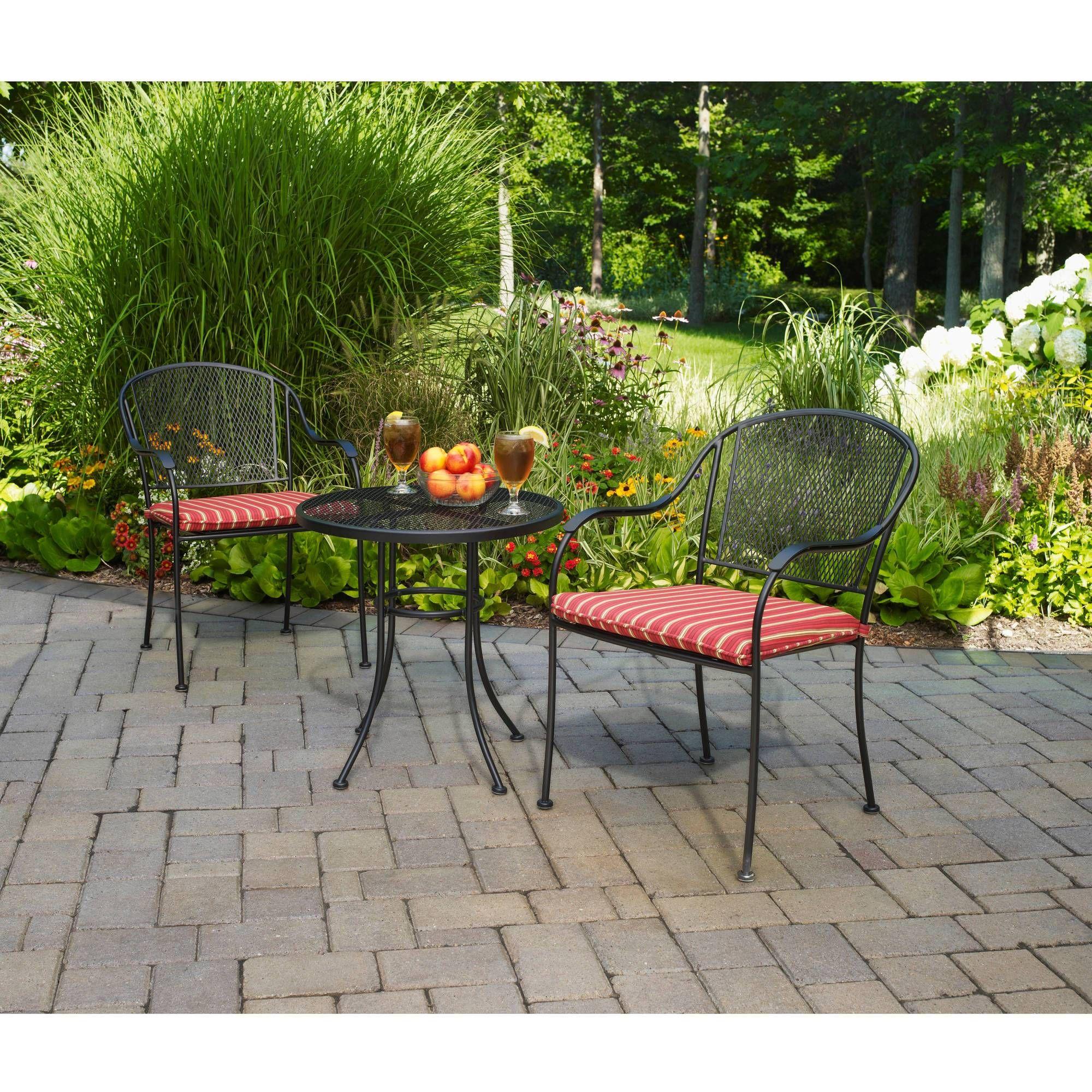 Black Wrought Iron Outdoor Furniture Pool Walmart Mainstays