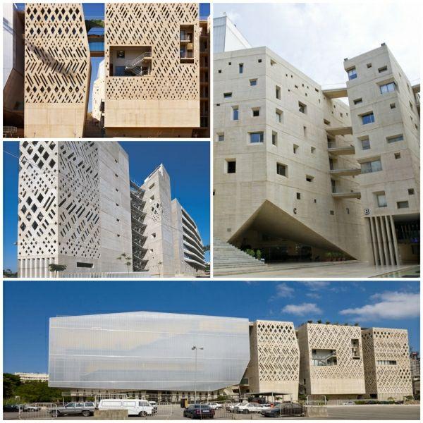 Fassade Architektur beton fassade joseph universität in beirut