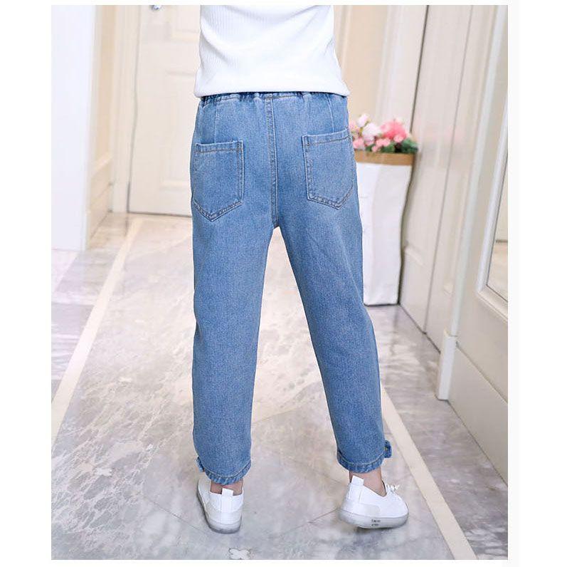 Контрастные брюки с сетчатой вставкой для девочек | SHEIN Россия | 796x790