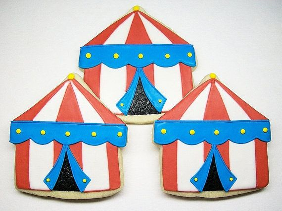 SweetTweets Circus Tent Cookies 1 dozen by SweetTweetsOnline $42.00 : circus tent cookies - memphite.com