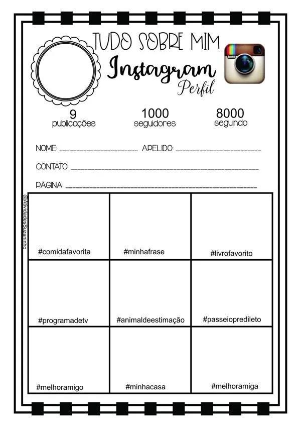 Quem Sou Eu No Instagram Atividades Suzaninho Atividades Sobre Amizade Atividades Para Adolescentes Atividades