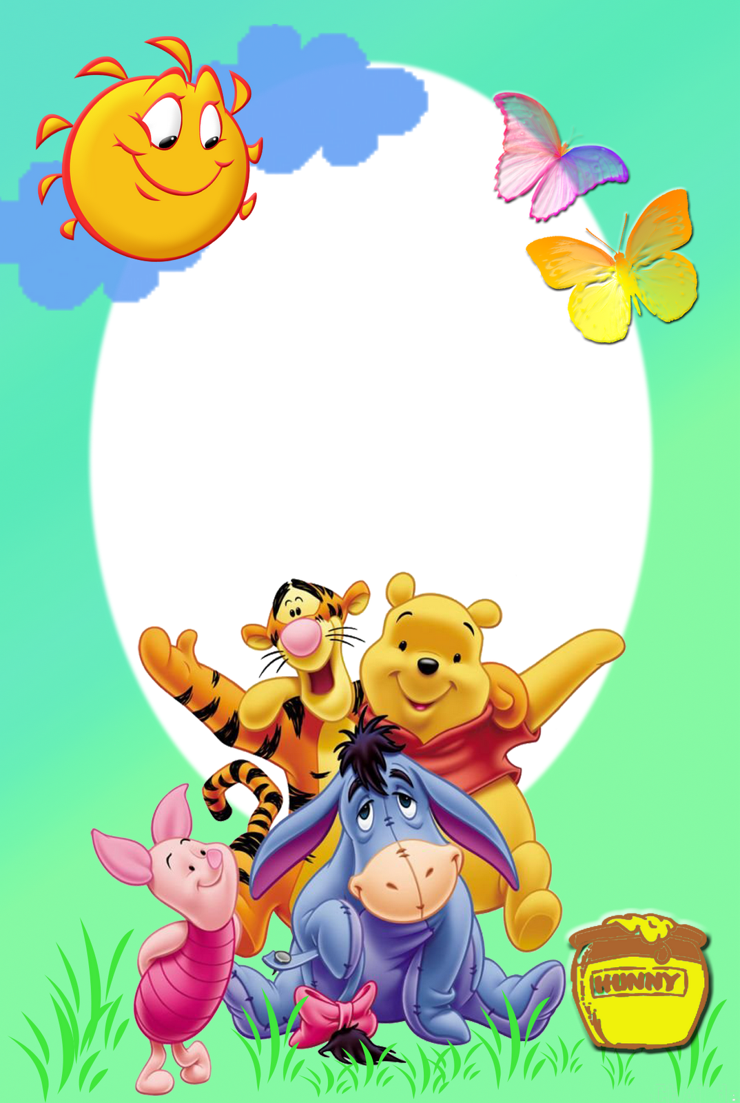 Playing And Crafting Pooh And Friends Photo Frame Craft Friend