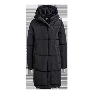 En bekväm och härlig vadderad jacka i en längre modell som