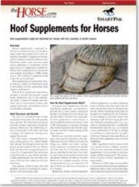 Hoof Supplements facts sheet