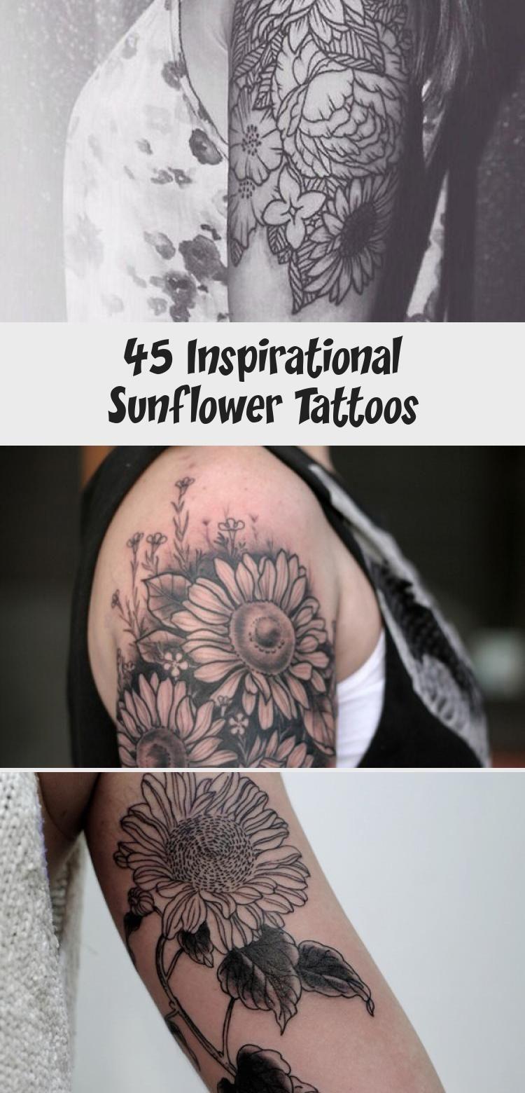 Photo of sunflower tattoo – 45 Inspirational Sunflower Tattoos #Elephantsunflowertattoos …