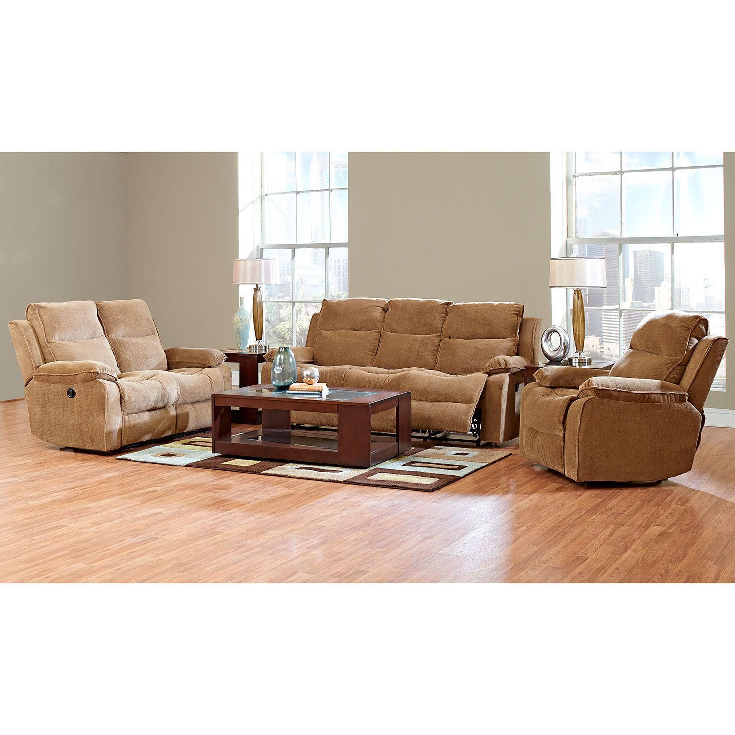 Crawford Reclining Sofa Reclining Loveseat and Reclining Chair