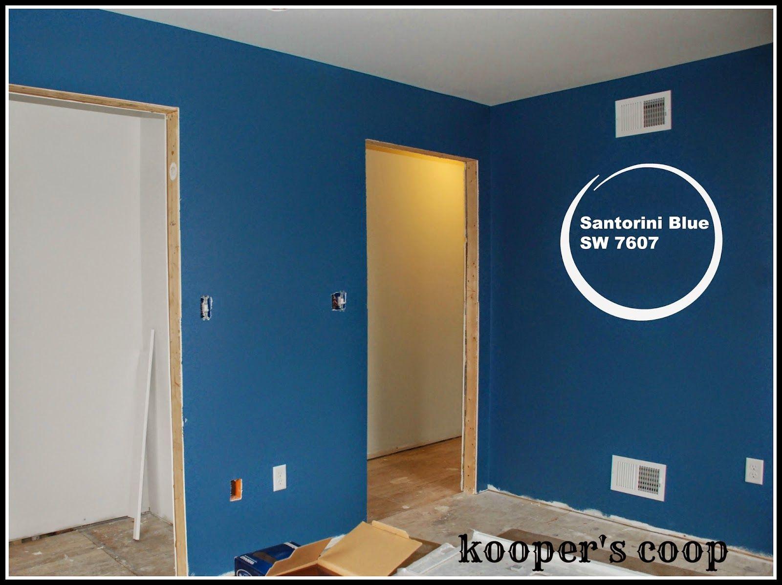 Sherwin williams santorini blue remodeling the coop for Santorini blue paint