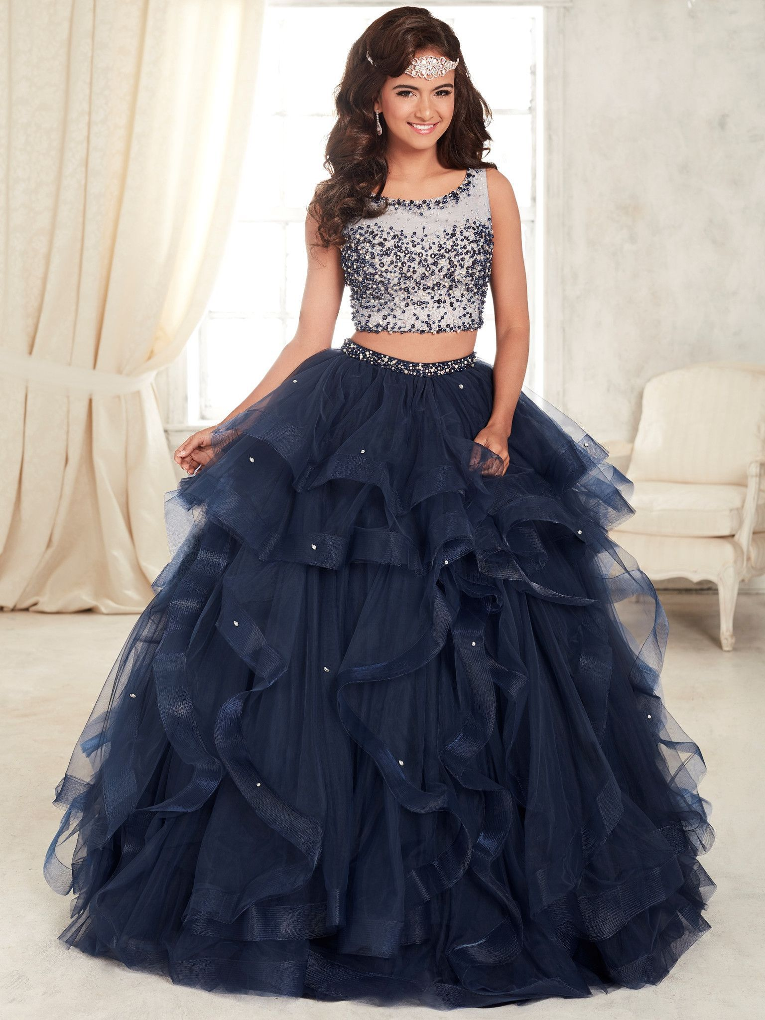 Two Piece Beaded Dress by House of Wu Fiesta Gowns Style 56295 ...