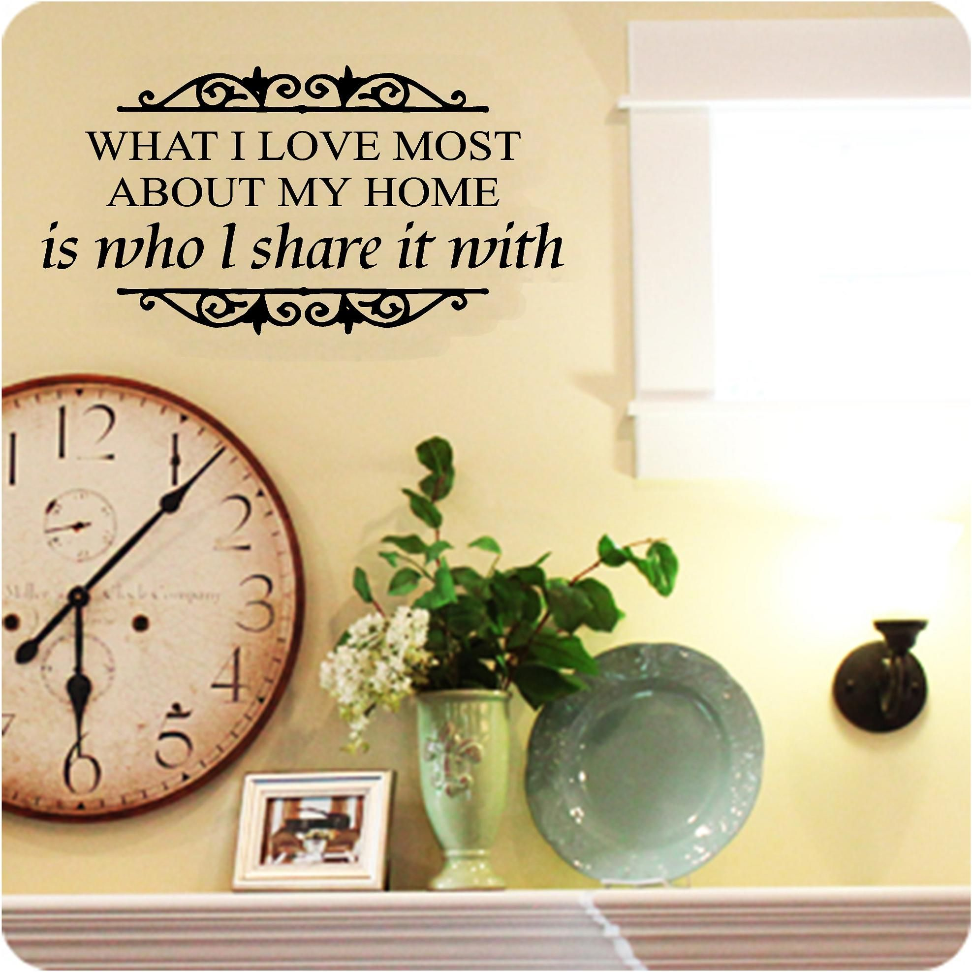 Love Most About Home Vinyl Wall Art Decals. Prices From £7.49. Free ...