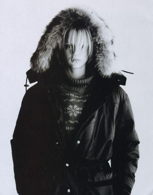 """""""High Performance Skiwear"""", ELLE US, November 1996 Photographer: Gilles Bensimon Model: Farrah Summerford"""