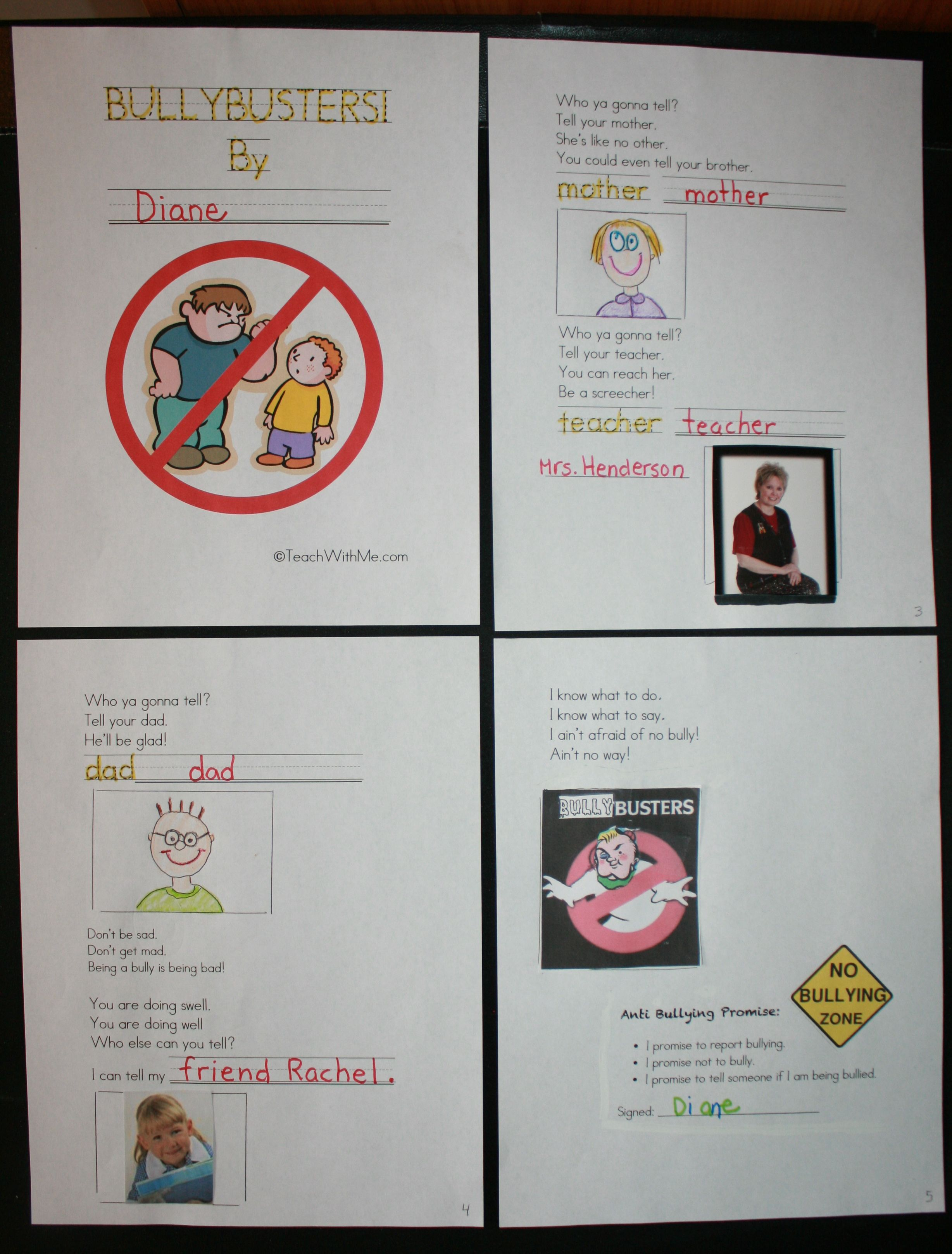 Free Booklet Also Includes A Worksheet That Defines All The Different Types Of Bullying A